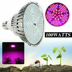100Watt Full Spectrum E27 LED Grow Light Bulb Lamp for Veg Bloom Indoor Plant US