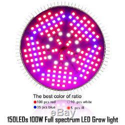 100Watt LED Grow Light Bulb Plant Grow Lamp E27 Full Spectrum Garden Fruit Veg