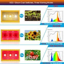 1500W COB LED Grow Light Full Spectrum Indoor Plants Greenhouse Veg Bloom
