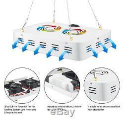 2 X 1000W LED Grow Light Lamp Single Chip Full Spectrum Medical Indoor Plant Veg