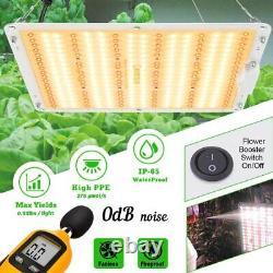 2000W DUAL Full Spectrum LED Grow Light Veg Flower for Home Indoor Plant IP65