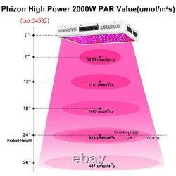 2000W High Power LED Grow Lights Full Spectrum For All Indoor Plants Veg Flower