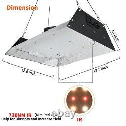 2000W LED Grow Light Sunlike Full Spectrum VEG BLOOM Growing Kit Hydroponics