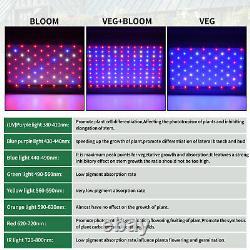 2000W Led Grow Light Veg Bloom Plants Panel +4'x4' Grow Tent Indoor 48x48x80inch