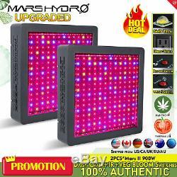2PCS Mars II 900W LED Grow Light Full Spectrum Veg Bloom for Indoor Plants