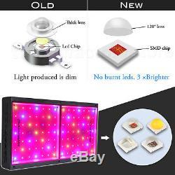 2PCSMars Hydro ECO 600W LED Grow Light Full Spectrum Veg Bloom Indoor Plant Lamp