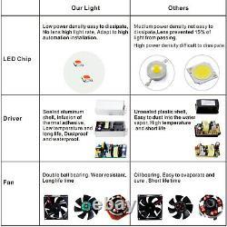 2X 5000W Hydro LED Grow Light Full Spectrum For Indoor Plants UV IR Veg Flower