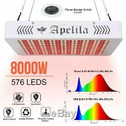2pcs 8000W LED Grow Light Full Spectrum Indoor Hydroponic Veg Flower Plant 3500K