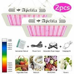 2pcs LED Grow Light Full Spectrum 8000W For Hydroponic Veg Flower Plant Lamp
