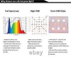 3000W 6XCree COB LED Grow Light Plant Lamp Full Spectrum Hydroponic Veg Flower