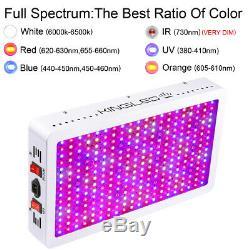 3000W LED Grow Light Full Spectrum Veg Flower Indoor Plant Lamp Panel US STOCK