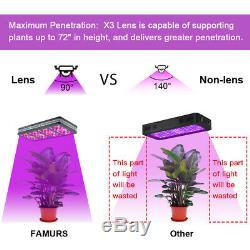 3000W Reflector Full Spectrum Triple Chip LED Grow Light Double Switch VEG BLOOM
