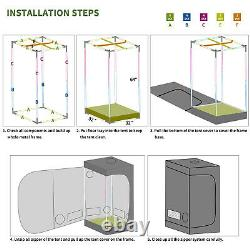 3x3 ft Grow Tent + VEG BLOOM 1000W LED Panel Light Indoor Complete Plants Kit