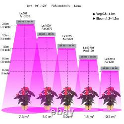 4 X 1500W DIY LED Grow Light For Indoor House Hydroponic Veg Bloom Plant Lamps