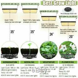 4000W LED Grow Light 4'x4' Flower Full Spectrum for Indoor Plant Veg 1152pc LEDs