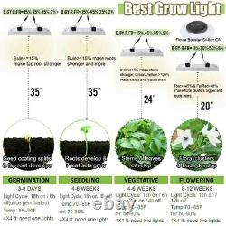 4000W LED Grow Light Dimmable Full Spectrum for Indoor Plants Veg Flower Lamps