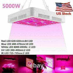 4X 5000W LED Grow Light Full Spectrum Indoor Hydroponic Plant Flower Veg Lamp US