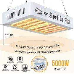 5000W Led Grow Light Full Spectrum For All Indoor Plant Veg Flower Bloom Switch