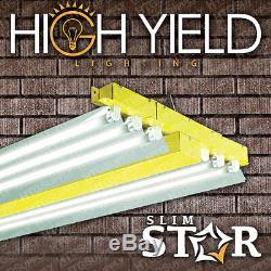 6 lamp 4' T5 GROW LIGHT w VEG & BLOOM BULBS 48 tube 54w 6500K 3000K fluorescent