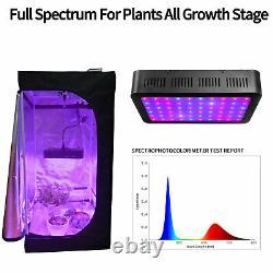 60'' 80'' Grow Tent Indoor Room Box + Led Grow Light Veg Bloom Plant Hydroponics