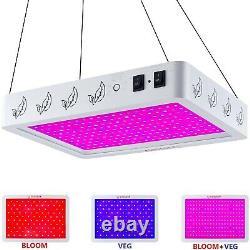 6000W LED Grow Light Lamp Full Spectrum for Indoor Plants Veg Flower+Daisy Chain