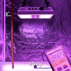 600W 12-band LED Grow Light 3-Switches Full Spectrum Indoor Plants Veg Flower