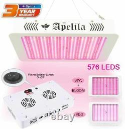 8000 Watt LED Plant Grow Light Full Spectrum 576 LEDs, Double Switch Veg Flower
