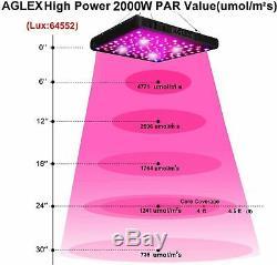 AGLEX 2000 Watt COB LED Grow Light Full Spectrum for Hydroponic Plant Veg Flower