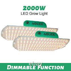 AGLEX 2000W LED Grow Light Full Spectrum Lamp Hydroponic Plant Veg Flower 2PCS