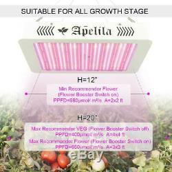 Apelila 8000W UV LED Grow Light Full Spectrum Hydro Veg Bloom Switch IndoorPlant