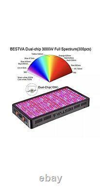 BESTVA DC Series 3000 Watt LED Grow Light Full Spectrum Veg & Bloom