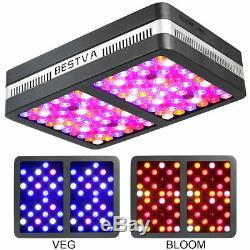 BESTVA Reflector 1200W Full Spectrum Hydro LED Grow Light with VEG Bloom Switch