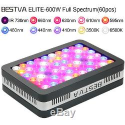 BESTVA Reflector 600W Full Spectrum Hydro LED Grow Light with VEG Bloom Switch