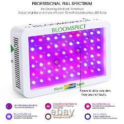 BLOOMSPECT 600W LED Grow Light Full Spectrum for Indoor Plants Veg Flower