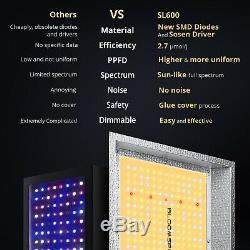 BLOOMSPECT SL600 LED Grow Light Full Spectrum for Indoor Plants VEG BLOOM IR