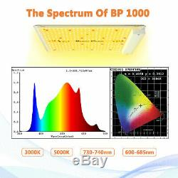 BP 1000W LED Grow Light Full Spectrum for Indoor Plant All Stages Lamp VEG Bloom