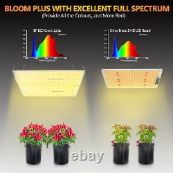 Bloom Plus 4000W LED Grow Light Sunlike Full Spectrum Greehouse Plant Veg Flower