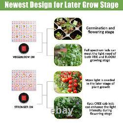 COB 3000W LED Grow Light Full Spectrum UV IR Plant Lamp For Indoor VEG High PPFD