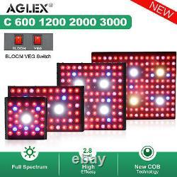 COB 600W 1200W 2000W 3000W LED Grow Light Full Spectrum for Indoor Veg Bloom