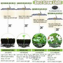 Carambola 9000W LED Grow Light Sunlike Full Spectrum Bar Strip Veg Flower IR UV