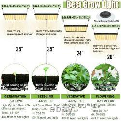 Carambola Upgrade 4000W LED Grow Light Full Spectrum for Indoor Plants Veg IP65