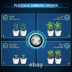 CrxSunny 2000W 240W Samsung LED Grow Light Full Spectrum for Plants Veg Bloom IR