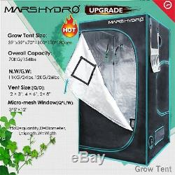 ECO 600W Led Grow Light Veg Flower Plant Lamp+39×39×70 Indoor Grow Tent Kit