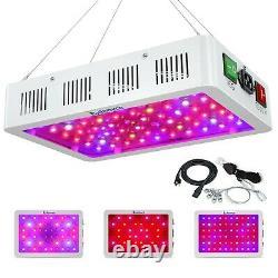 Exlenvce 1500W 1200W 600W LED Grow Light Full Spectrum for Indoor Plants Veg