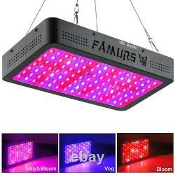 FAMURS 1200W Triple Chips LED Grow Light Full Spectrum Veg Bloom Double Switch