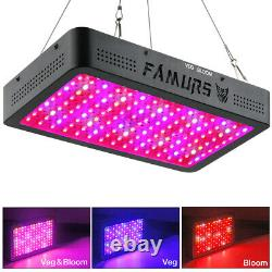 FAMURS 1500W Triple Chips LED Grow Light Full Spectrum with Veg and Bloom Switch