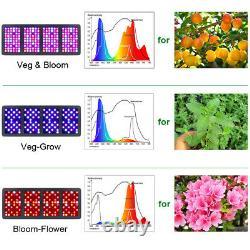 FAMURS 3000W Triple Chip Reflector Full Spectrum LED Grow Light VEG BLOOM