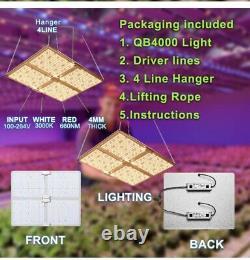 High PPFD 480 Watt Dimmable LED 4Panel Quantum STYLE GROW LIGHT 5x5veg/4x4Flower