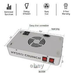 Hydro Crunch 600-Watt Equivalent Veg Bloom Full Spectrum LED Plant Grow Light