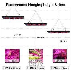 Hydroponic 600W LED Grow Light Full Spectrum For Indoor Veg Flower Plant Lamp